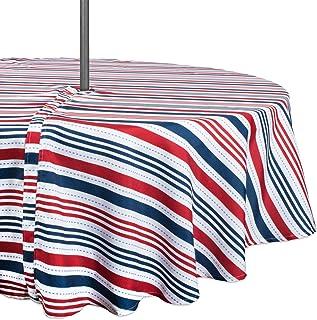 "DII TC Outdoor Zip Patriotic Stripe 60"" Round, Zippered"