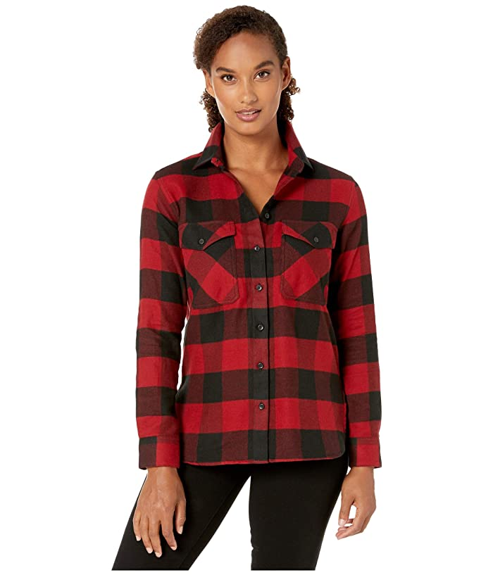 Elbow Patch Flannel Shirt (Black/Red Rock Buffalo Check) Women's Clothing