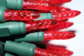 AIDDOMM Icicle Lights 70 Counts M5, for Outdoor and Indoor, Red Light, Green Wire, 6inches Spacing, 35.5ft, UL Listed