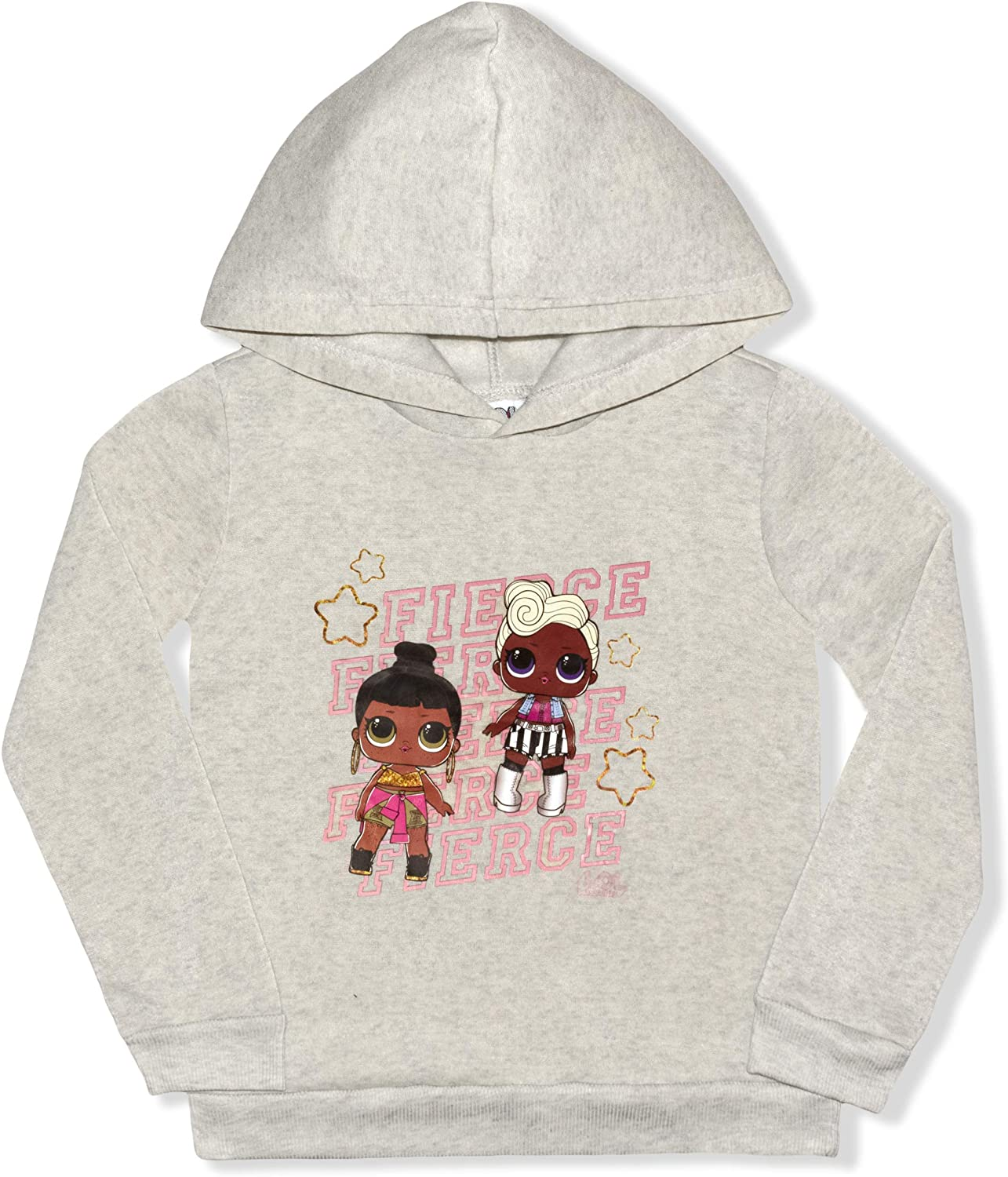 MGA LOL Surprise Girls 2-Piece Fierce Pullover Hoodie and Legging Set Pink