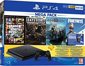 PlayStation 4 Mega Paket 2019, 500GB (GTA V + Days Gone + God of War)