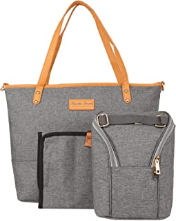 Baby Diaper Bag with Changing Pad, Tote Diaper Bag with Sundry Bag for Babycare