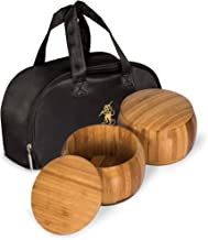Yellow Mountain Imports Bamboo Bowls (Gosu) and Carrying Bag for Go Game Stones