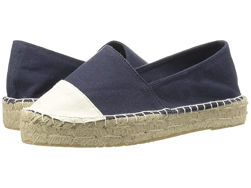 Dirty Laundry Elliot Espadrille (Blue/Beige Canvas) Women