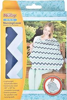 Nuby Nursing Cover with Interior Pockets, Damask, 26