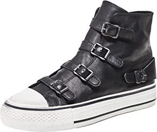 ASH Women's Leather Virgin High Top Trainers Black