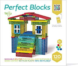 Tegu 120 Piece Perfect Blocks Building Set- Amazon Exclusive, Rainbow