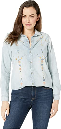 Embroidered Boyfriend Shirt