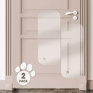 PETFECT Door Scratch Protector Premium Dog Door Cover for Interior & Exterior Use - Clear