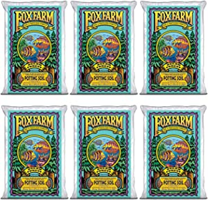 FOXFARM FX14000 Ocean Forest Indoor/Outdoor Garden Potting Soil Bags 6.3-6.8 pH, 1.5 Cubic Feet, 40 pounds for Plants (6 Pack)