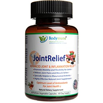 Natural Joint Supplement | Rheumatoid Arthritis Joint Relief | Anti Inflammatory Joint Health Joint Support by Bodymune | Best Joint Nutrition Vegan Gluten Free Non GMO | 60 Day Supply