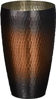新光金属 タンブラー 赤銅仕上げ 大(容量:550ml) 純銅赤銅仕上げ 鎚目S型タンブラー SI-103R