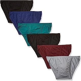 Men's Tagless Comfort Flex Fit Dyed String Bikini, 6 Pack