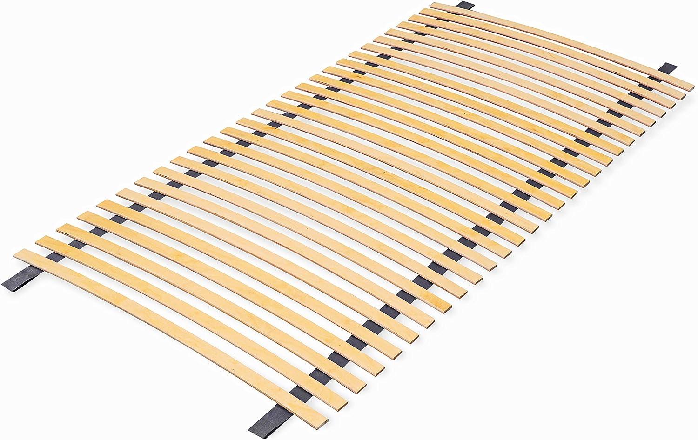 ECOFORM Somier enrollable de láminas de 70/80/90 x 200 cm, con 28 listones, directamente del fabricante (70 x 200 cm)