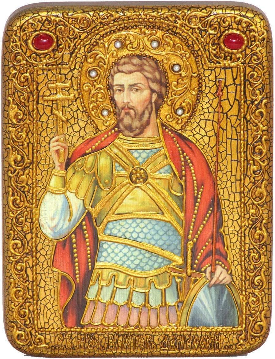 RuPost Surprise price Workshop Expanse 5 ☆ very popular Gift icon Martyr of Victor Holy Damascus