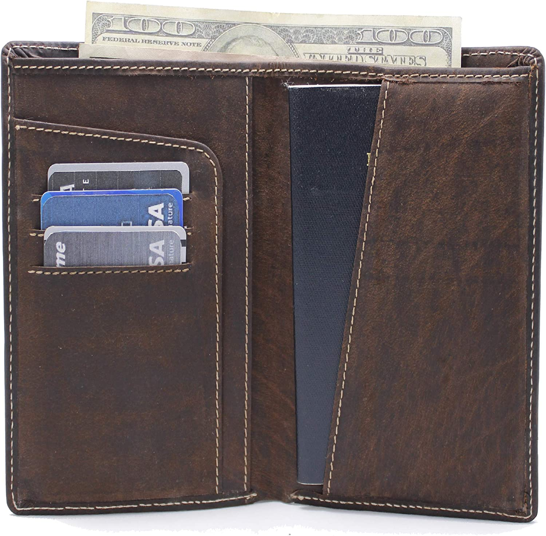 Cheap Fresno Mall Leather Passport Holder Travel Wallet - Blocking doc RFID