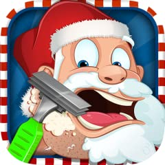Choose between Santa and Rudolph Cut and trim hair with a scissors, razor blade, and clippers Patch up any sore spots with paper bits. Get rid of any rashes with the rash cream Apply aftershave and wait for the reaction! Kid friendly interface!