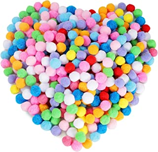 400 Pieces 1.18 Inch Assorted Pompoms Multicolor Arts and Crafts Pom Poms Balls for Hobby Supplies and Creative Craft DIY ...