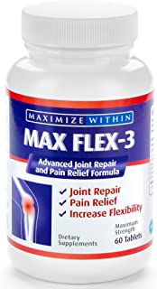 Max Flex-3-Advanced Joint Repair & Pain Relief Formula with Green Lipped Mussel. Support Treatment:Back Pai...