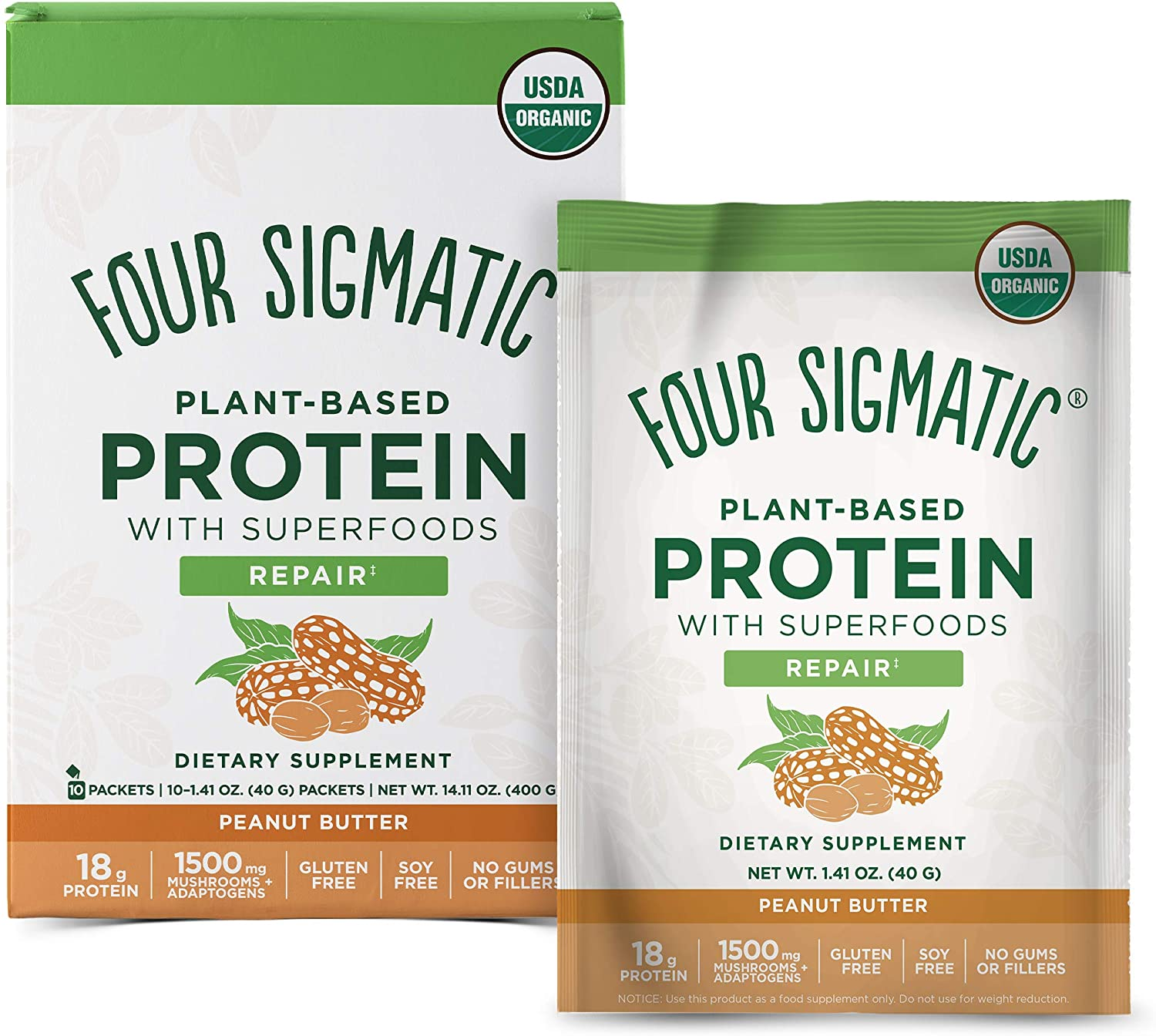 Four 100% quality warranty! Sigmatic Peanut Butter Plant-Bas Superfood Protein Bombing free shipping Organic
