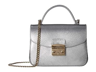 Furla Candy Meringa Mini Crossbody (Color Silver) Cross Body Handbags