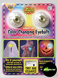 Forum Novelties Color Changing Eye Balls, One Size, Multicolored