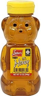 Lieber's Bear Clover Honey, Kosher For Passover, 12 Ounce Bottle (Single)