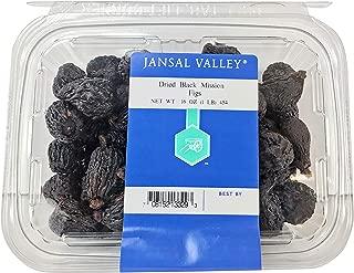 Jansal Valley Dried Black Mission Figs, 1 Pound