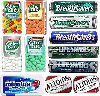 Breath Mints Bulk Variety Pack Assortment Including Breath Savers, Altoids, Tic Tacs, Mentos and Lifesavers (12 Flavors)