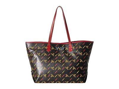 Vivienne Westwood Colette Small Shopper (Black/Red) Handbags