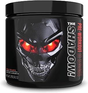 JNX Sports The Shadow! Hard Core Preworkout, A Better Pre Workout Stimulant - Electric Energy, Hypnotic Mental Focus, Superhuman Strength, 350mg of Caffeine, Men & Women | Fruit Punch | 30 SRV