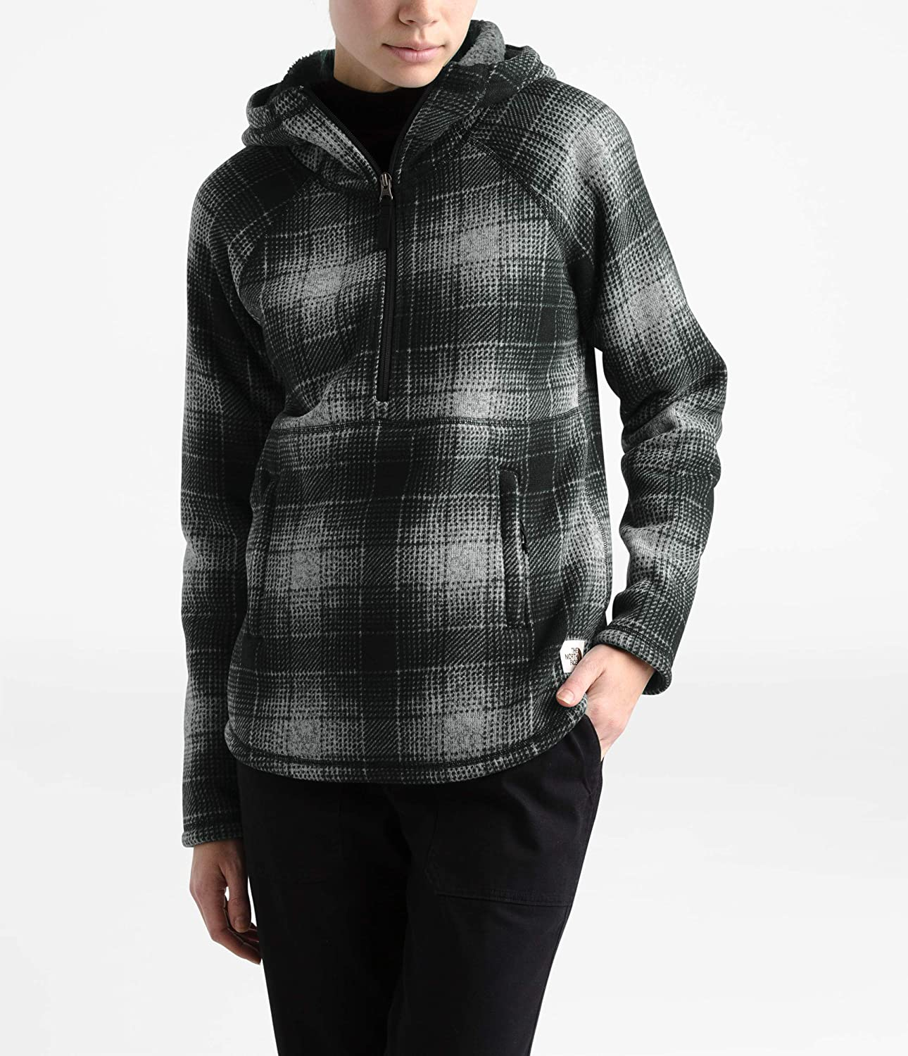 THE NORTH FACE Printed Crescent Pull à Capuche pour Femme High Rise Grey Ombre Plaid Small Print