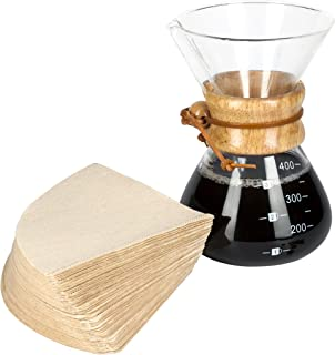 LVKH Pour Over Coffee Maker - Includes 100 Paper Filters - (13.5 ounces, 1 Cup)