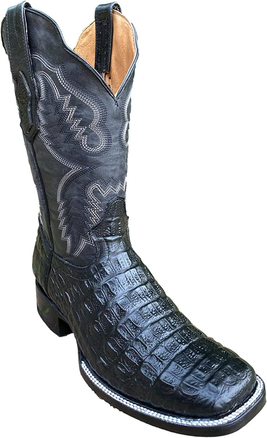 New popularity Square Toe Men's Cowboy Western Boots in Genuine Leather Gadw by Today's only