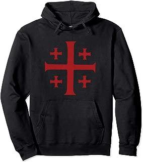 Jerusalem Cross Vintage Distressed Graphic Shirt Pullover Hoodie