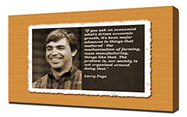 Larry Page Quotes 2 - Canvas Art Print