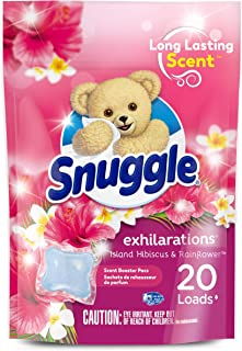 Snuggle Exhilarations In Wash Laundry Scent Booster Pacs Island Hibiscus and Rainflower 20 Count (Packaging May Vary)