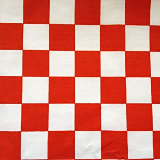 Best red checkerboard fabric Reviews