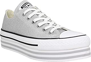 5694527b6939d Converse Chuck Taylor All Star Platform Layer Toile Femme Argent