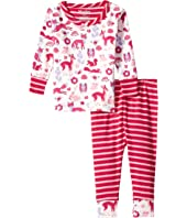 Hatley Kids - Woodland Tea Party Long Sleeve Mini Pajamas (Infant)