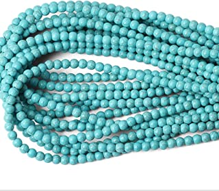 Asingeloo Howlite Turquoise Round Loose Beads Gemstone 15 Inch 8mm Crystal Energy Stone Healing Power for Jewelry Making