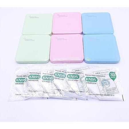 Multicolor, 6 Unidades MAGIC SELECT Estuche para mascarillas//Caja para mascarillas Rosa,Verde,Azul,Blanco