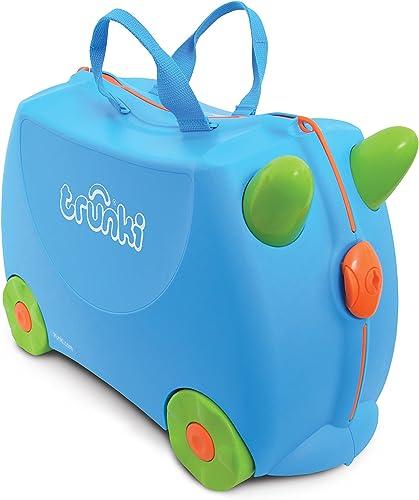Trunki Valise Enfant à Roulette à Chevaucher et Bagage Cabine - Classique: Terrance (Bleu)