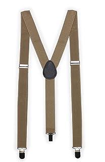 Bows-N-Ties Men's Suspenders - Elastic Band 1 inch width adjustable length Y style suspenders