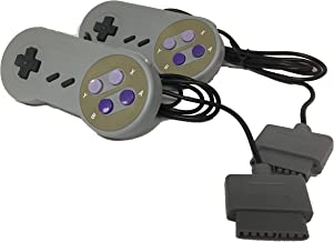 W4W Remote Control Compatible with Super Nintendo SNES - 7 Pin Connector - Pack of Two Controllers (2 Pack)