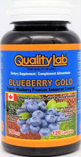 Sponsored Ad - Qualitylab Blueberry 700 mg 120 Capsules (Made in Canada)