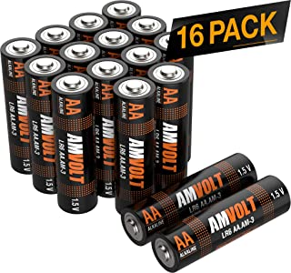 16 Pack AA Batteries [Ultra Power] Premium LR6 Alkaline Battery 1.5 Volt Non Rechargeable Batteries for Watches Clocks Remotes Games Controllers Toys [Exp. 2028]