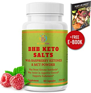 Keto Diet Pills, Raspberries and MCT Oils | Help Reach Max Ketosis and Burn Fat | Advanced Ketogenic Weight Loss Supplement by We Care Vida | BHB Salts Exogenous Ketones for Women & Men (60 Capsules)