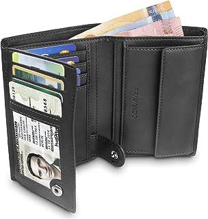 """TRAVANDO ® Portefeuille Homme """"Dublin"""" avec Blocage RFID - Porte-Monnaie Noir Classique, Porte-Cartes Format Portrait - Ra..."""