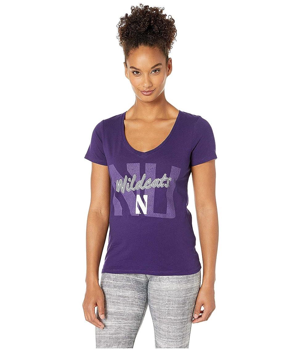 兄弟愛志す言語学[チャンピオン] レディース シャツ Northwestern Wildcats University V-Neck [並行輸入品]